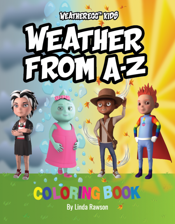 WeatherEgg Kids: Weather from A-Z: Coloring Book