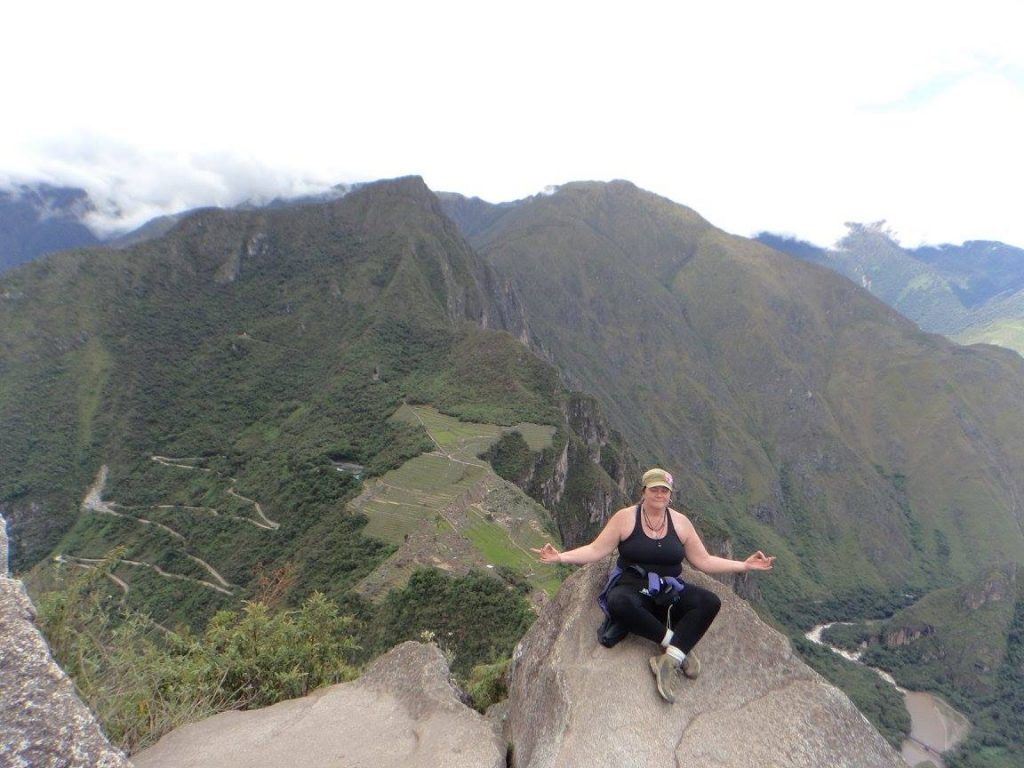Linda on Huayna Picchu