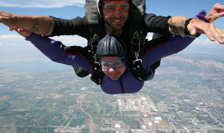 Linda Jumping out of an Airplane